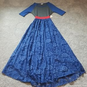 Adorable Blue, Red, and Grey Skirt Outfit